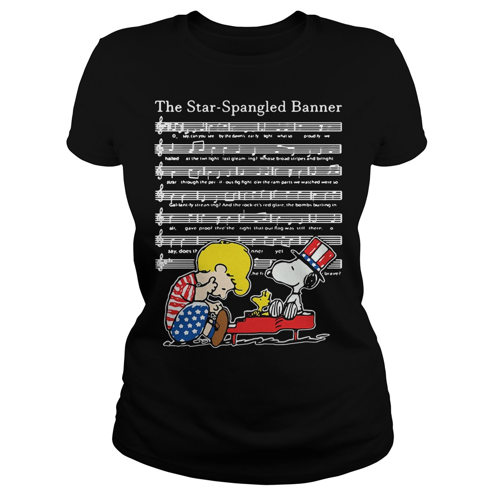 The Star-Spangled Banner Snoopy Independence Day 4th of July Ladies tee