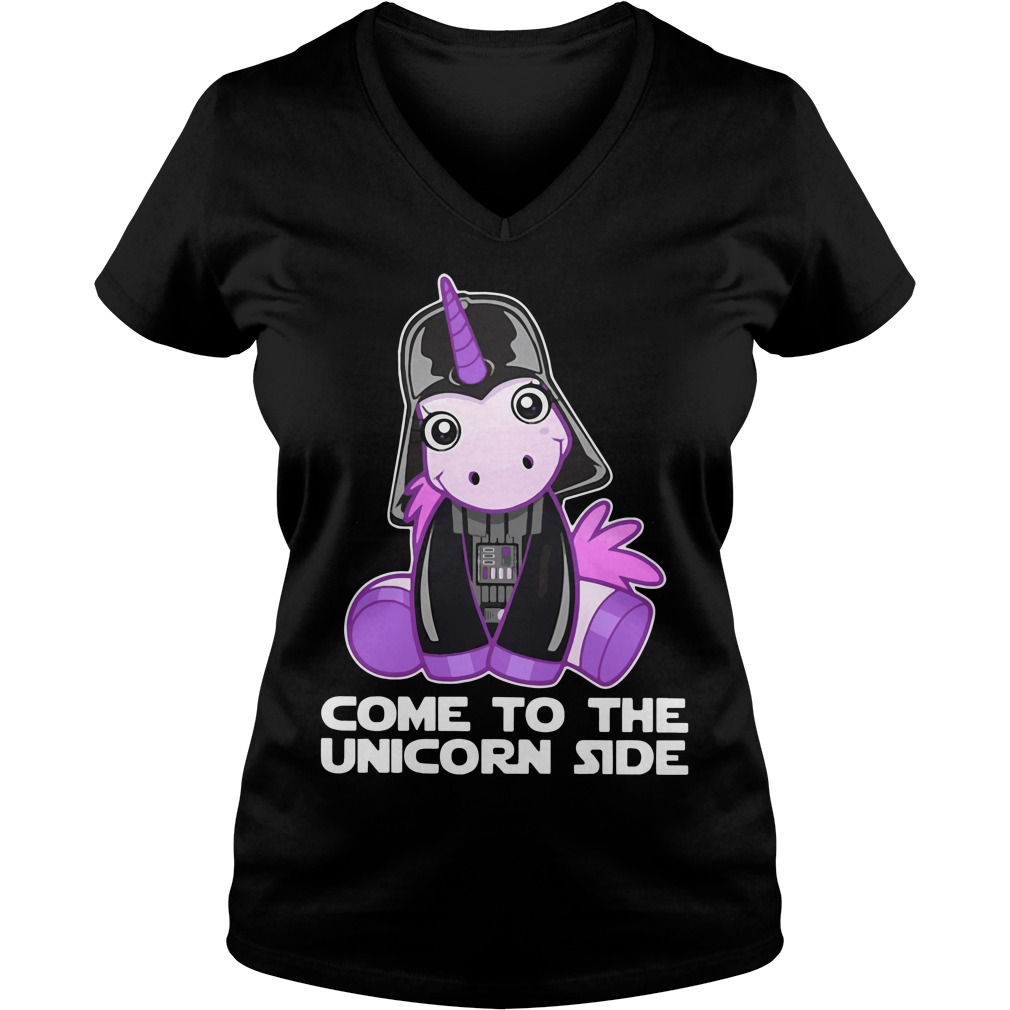 Star Wars come to the Unicorn side V-neck t-shirt