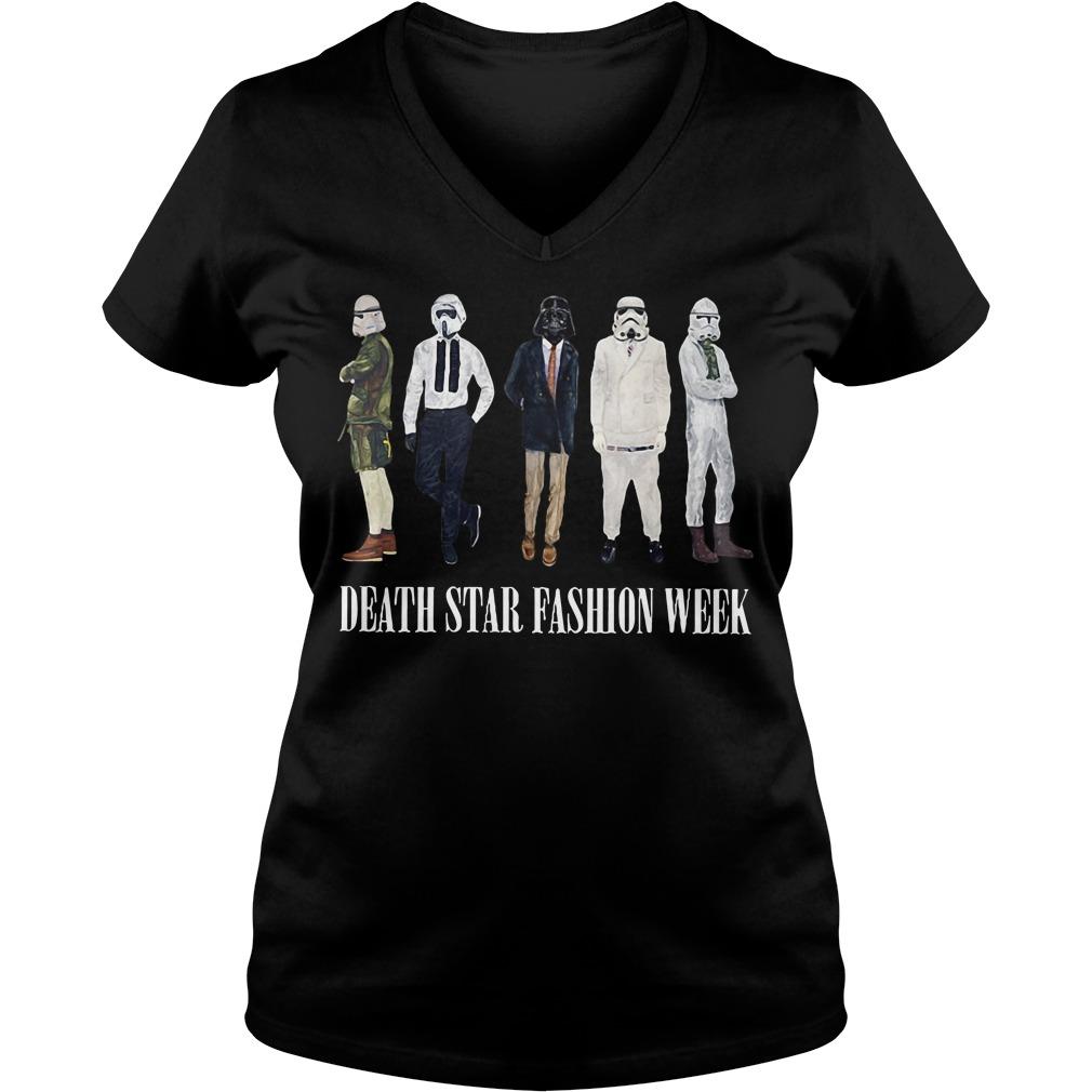 Star War Death Star fashion week V-neck t-shirtStar War Death Star fashion week V-neck t-shirt