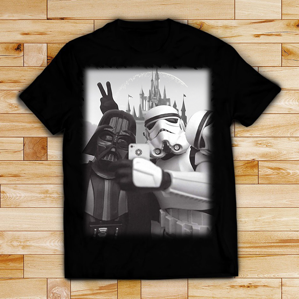 Star Wars Darth Vader and Stormtrooper selfie shirt