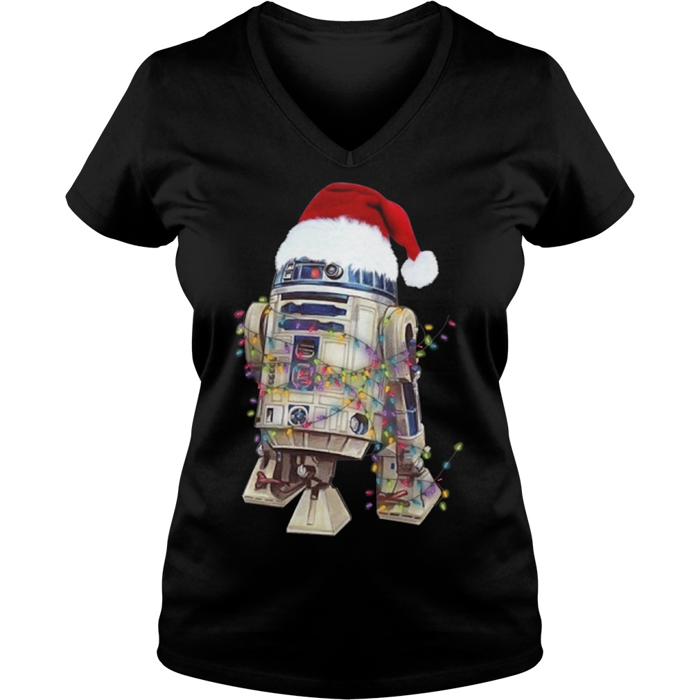 Merry Christmas Star Wars R2 – D2 V-neck T-shirt