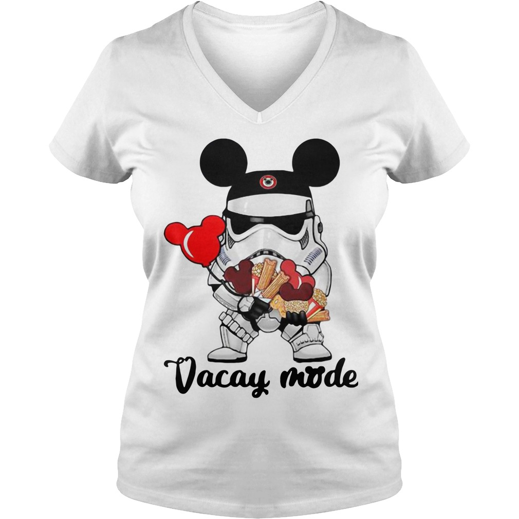 Star Wars Stormtrooper Mickey vacay mode V-neck t-shirt