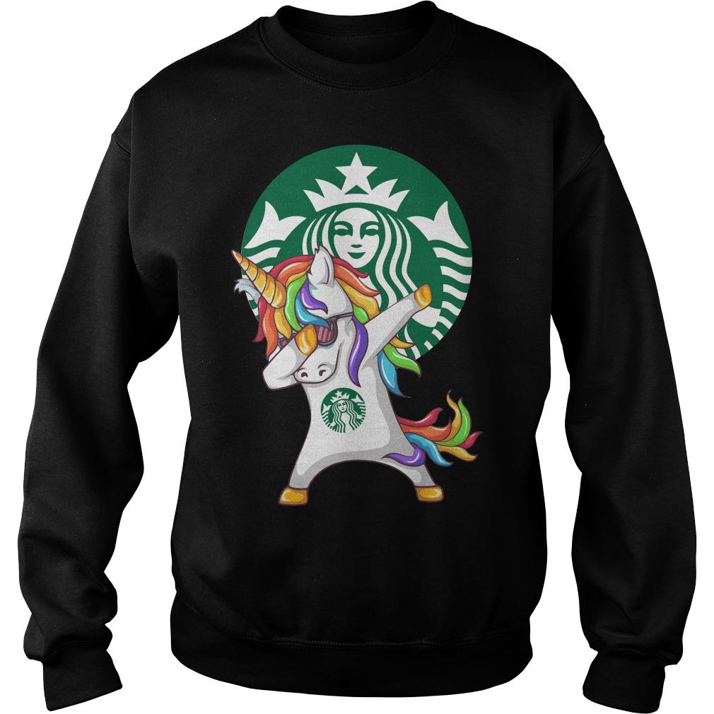 Starbuck Unicorn Dabbing Sweater