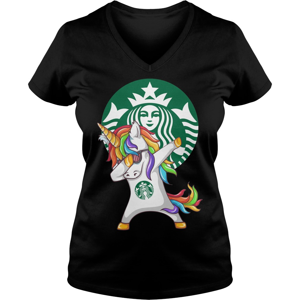 Starbuck Unicorn Dabbing V-neck t-shirt