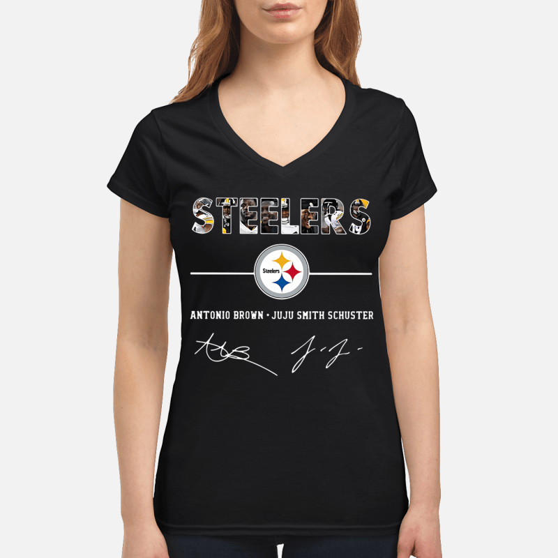Steelers Antonio Brown Juju Smith Schuster V-neck t-shirt
