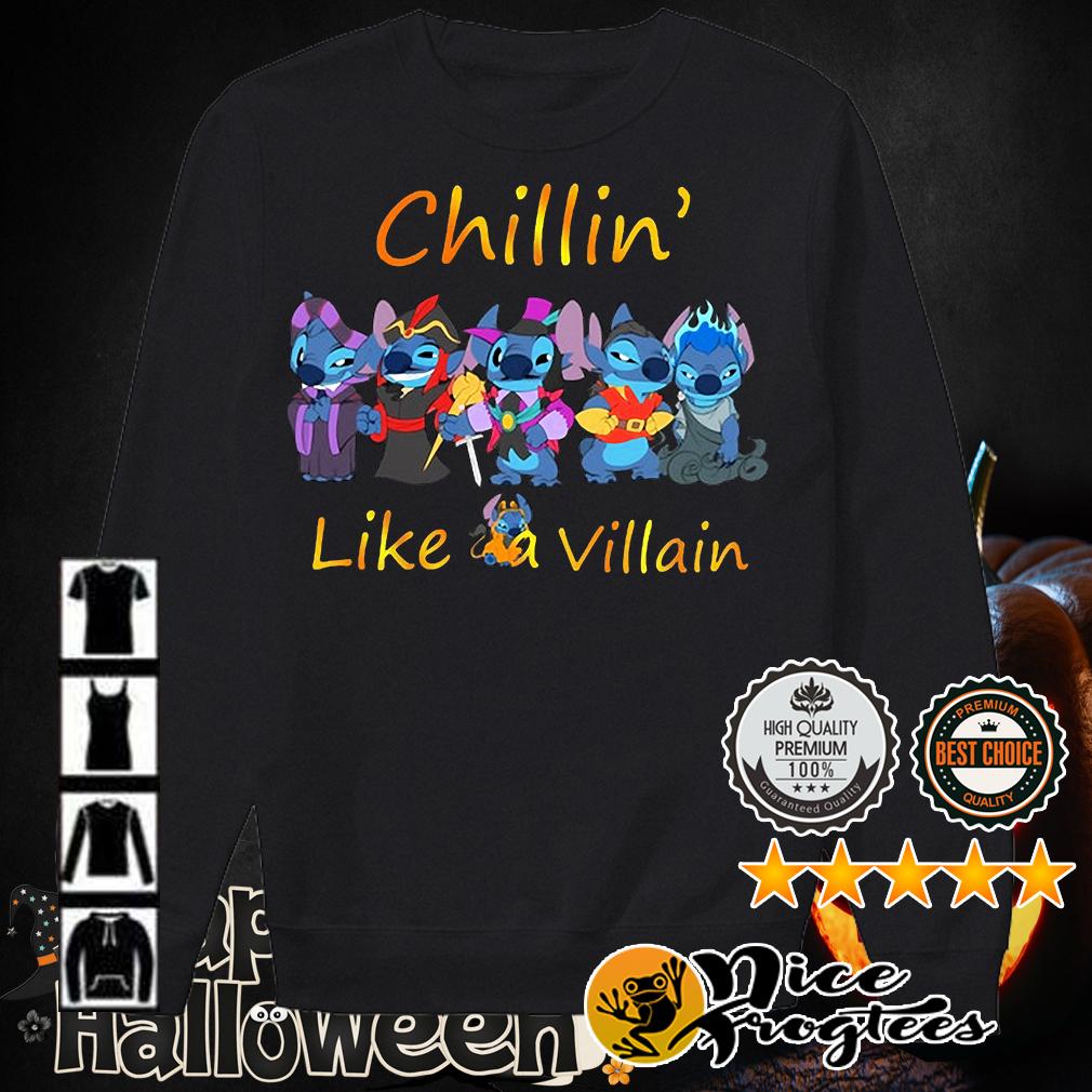 Stitch Chillin' like a Villain shirt
