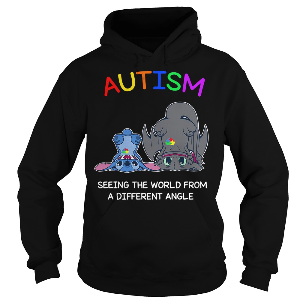 Stitch and Toothless Autism seeing the world from a different angle Hoodie