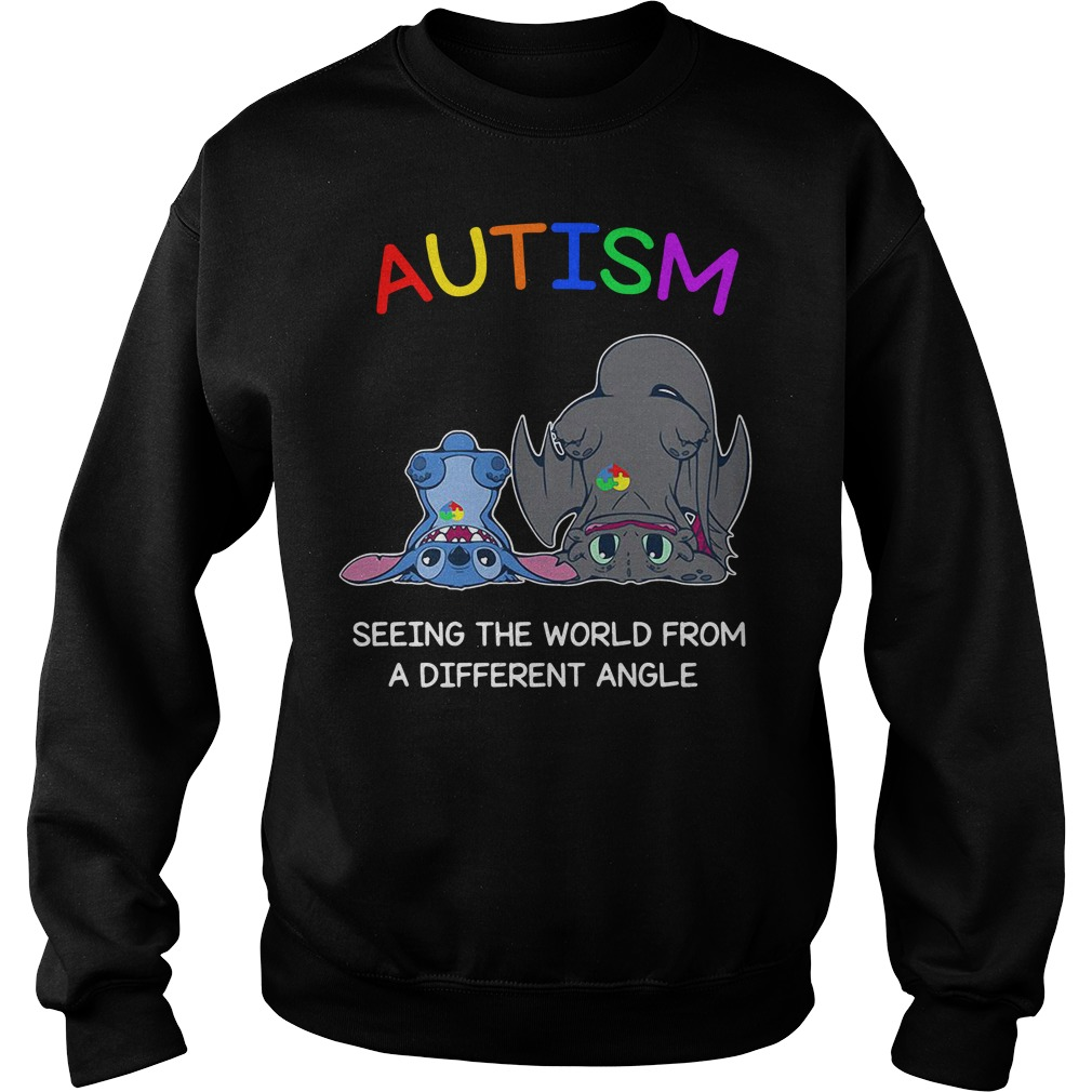 Stitch and Toothless Autism seeing the world from a different angle Sweater