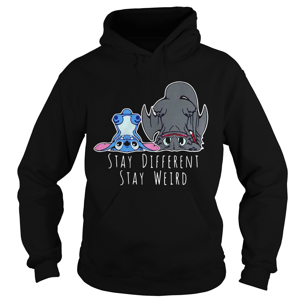 Stitch and Toothless Stay different stay weird hoodie