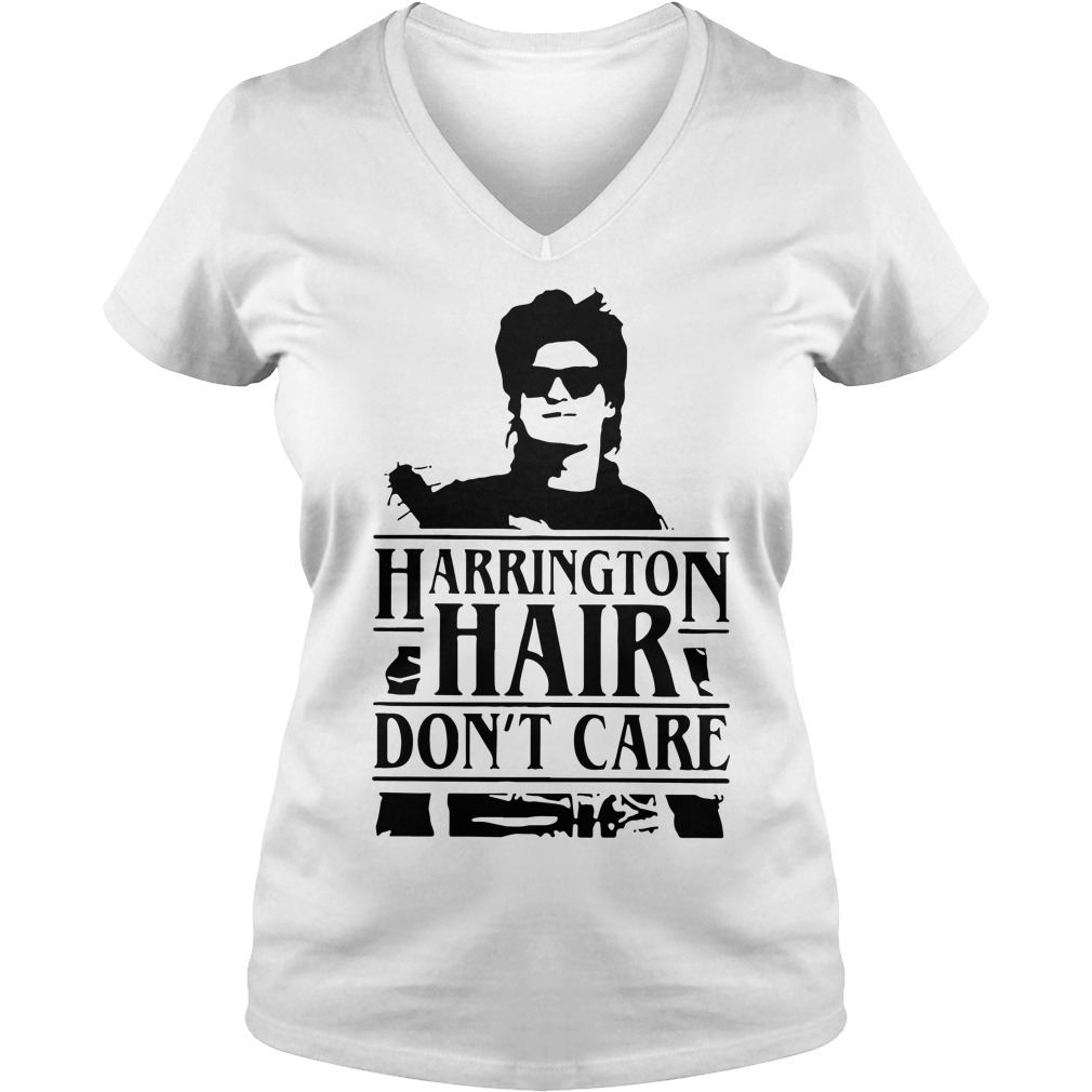 Stranger Things Harrington hair don't care V-neck t-shirt
