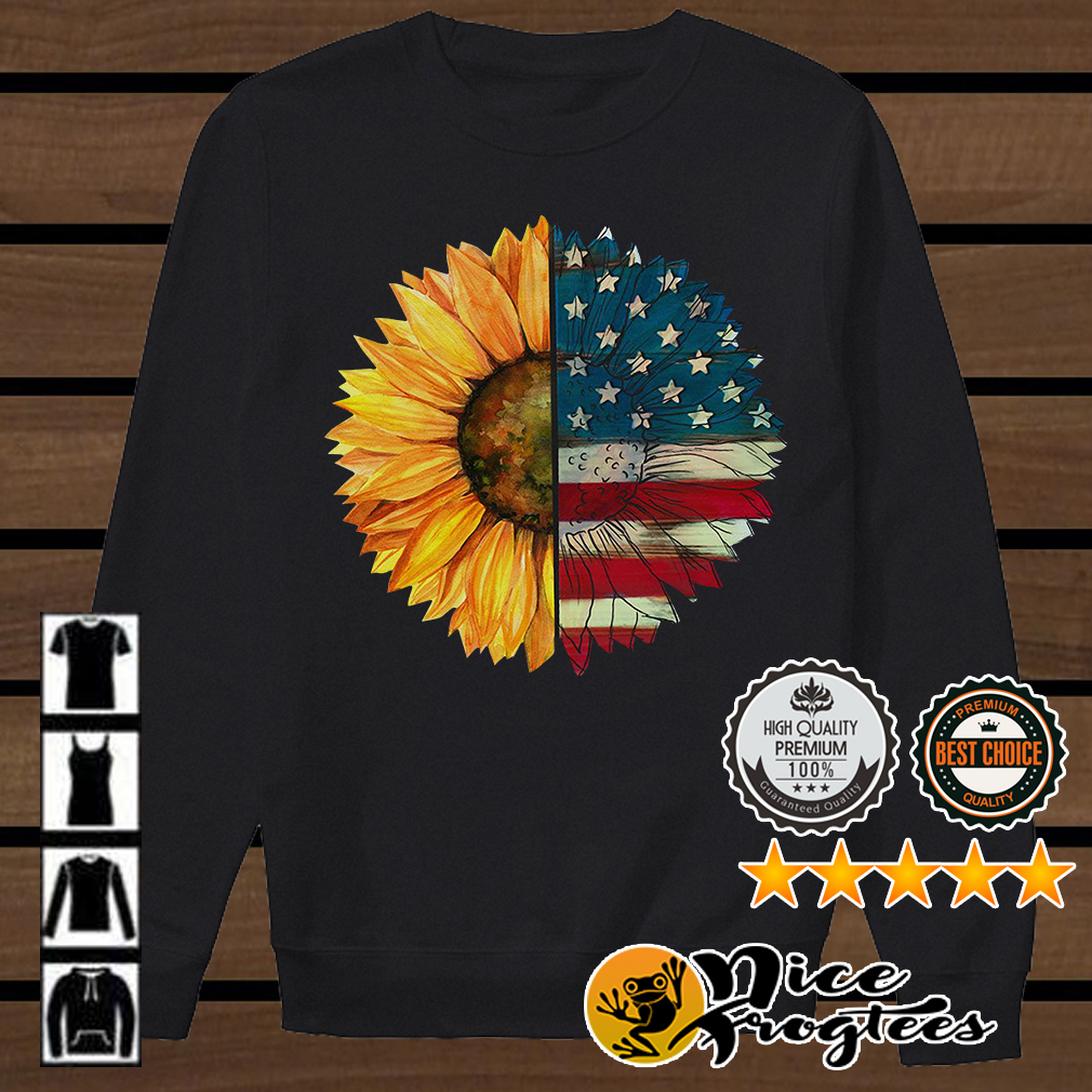 Sunflower American flag shirt