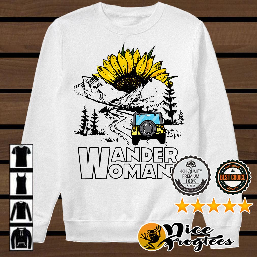 Sunflower camping jeep wander woman shirt