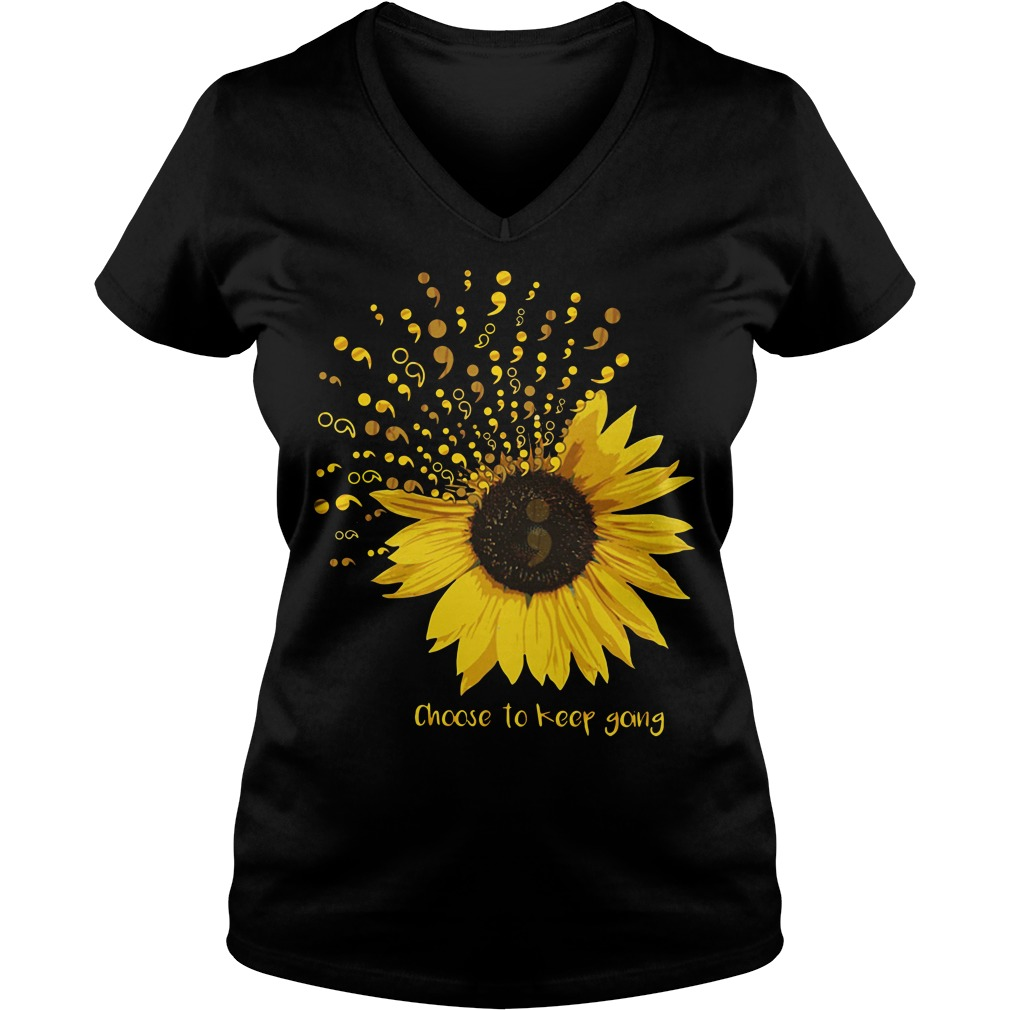 Sunflower Choose to keep going V-neck t-shirt