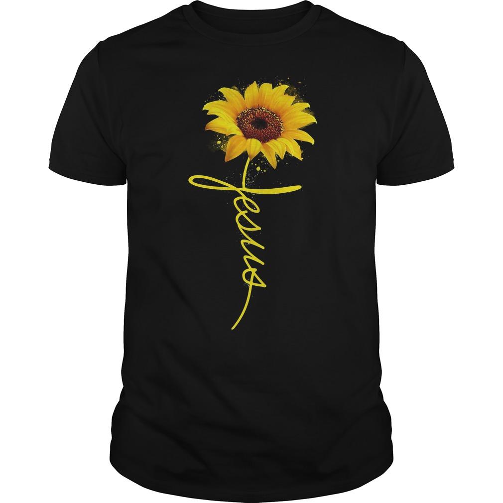 Sunflower Jesus Guys Shirt
