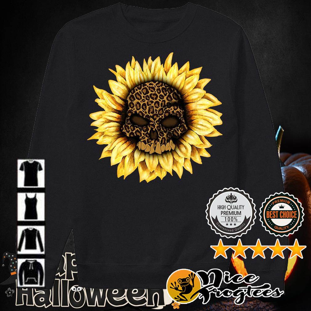 Sunflower leopard skull shirt