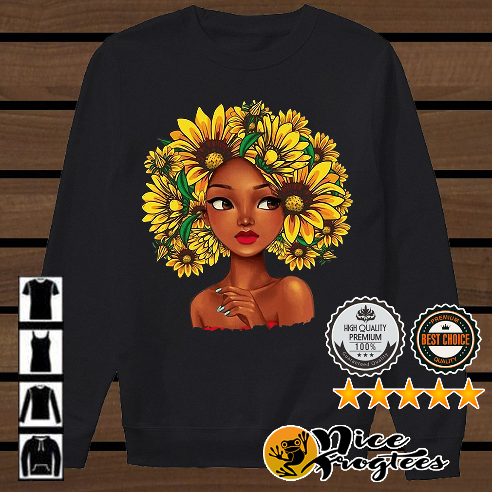 Sunflower natural hair for girl shirt
