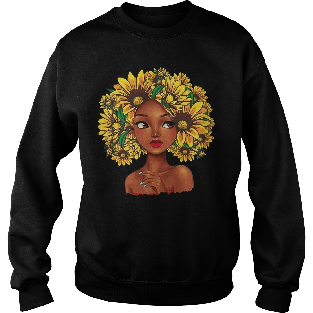 Sunflower natural hair for girl Sweater