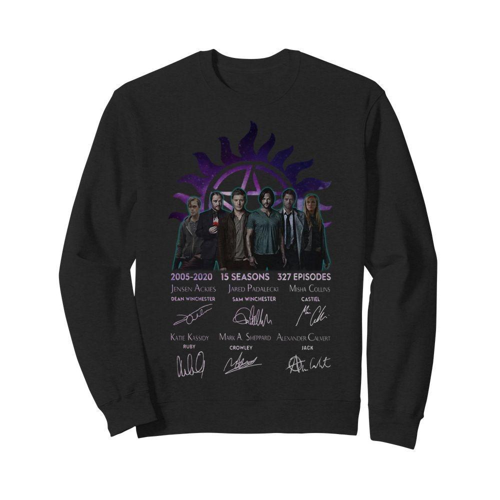 Supernatural 2005-2020 15 seasons 327 episides signatures Sweater