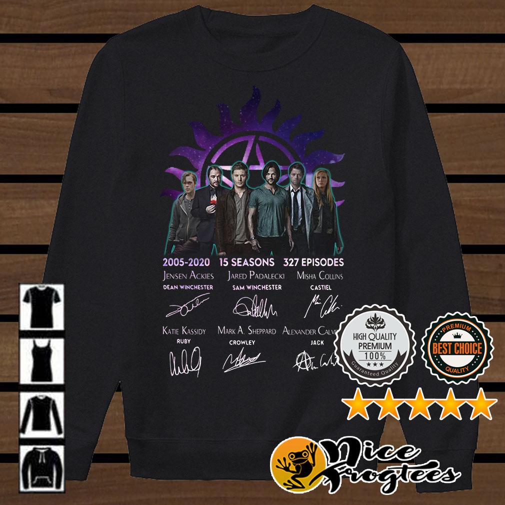 Supernatural 2005-2020 15 seasons 327 episides signatures shirt