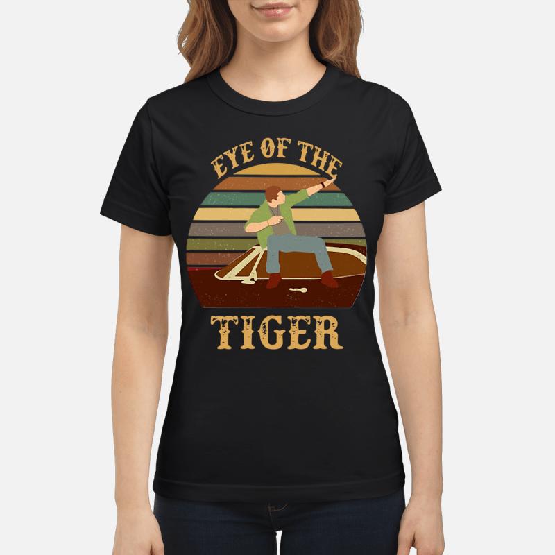 Survivor Eye of the tiger retro Ladies tee