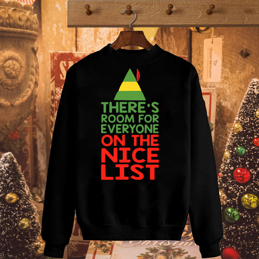 Teacher Elf there's room for everyone on the nice list shirt