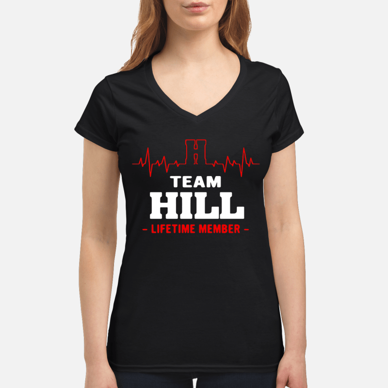 Team Hill lifetime member V-neck t-shirt