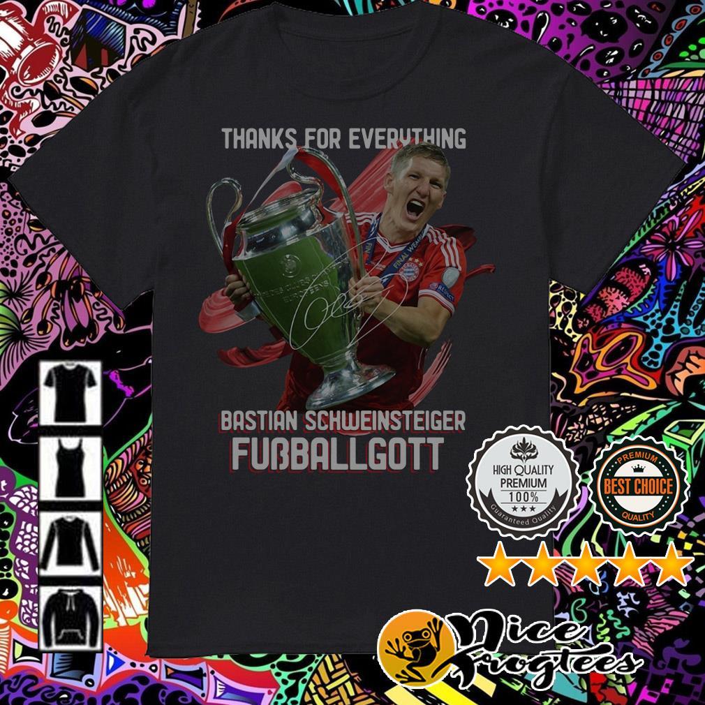 Thanks for everything Bastian Schweinsteiger Fubballgott shirt