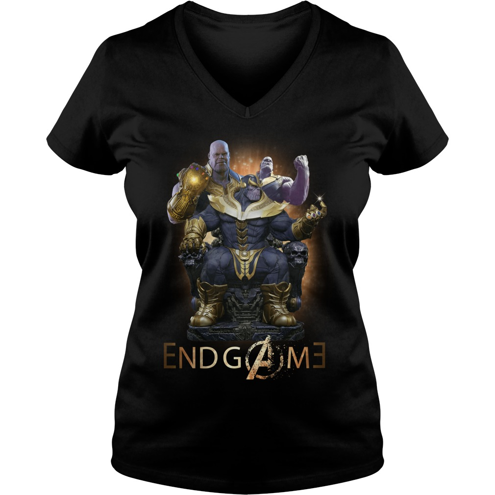 Thanos Marvel Avengers Endgame V-neck t-shirt
