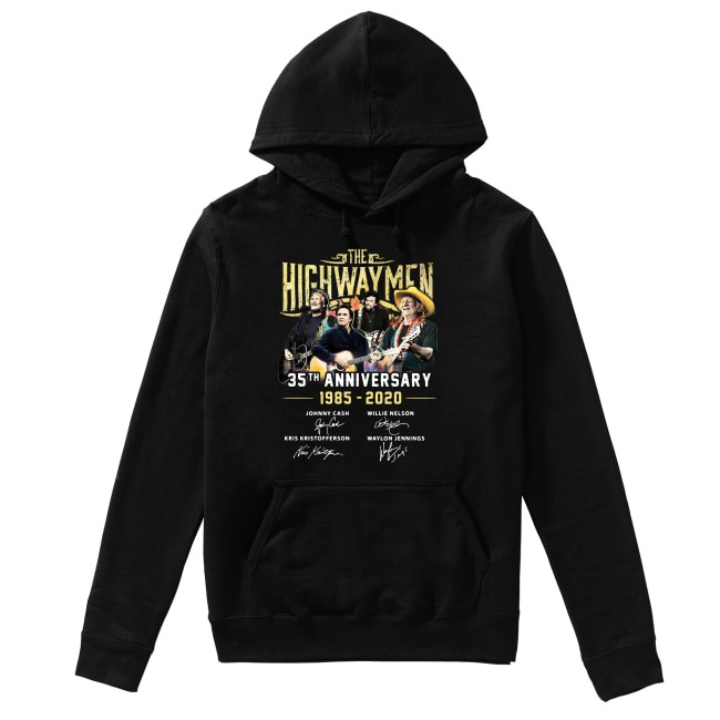 The Highwaymen 35th Anniversary 1985-2020 signatures Hoodie