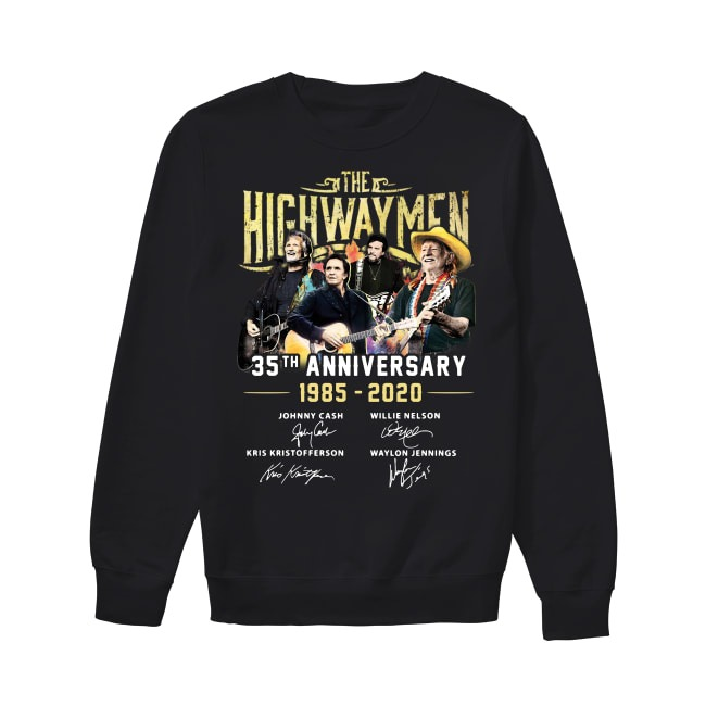 The Highwaymen 35th Anniversary 1985-2020 signatures Sweater