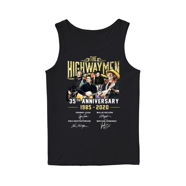 The Highwaymen 35th Anniversary 1985-2020 signatures Tank top