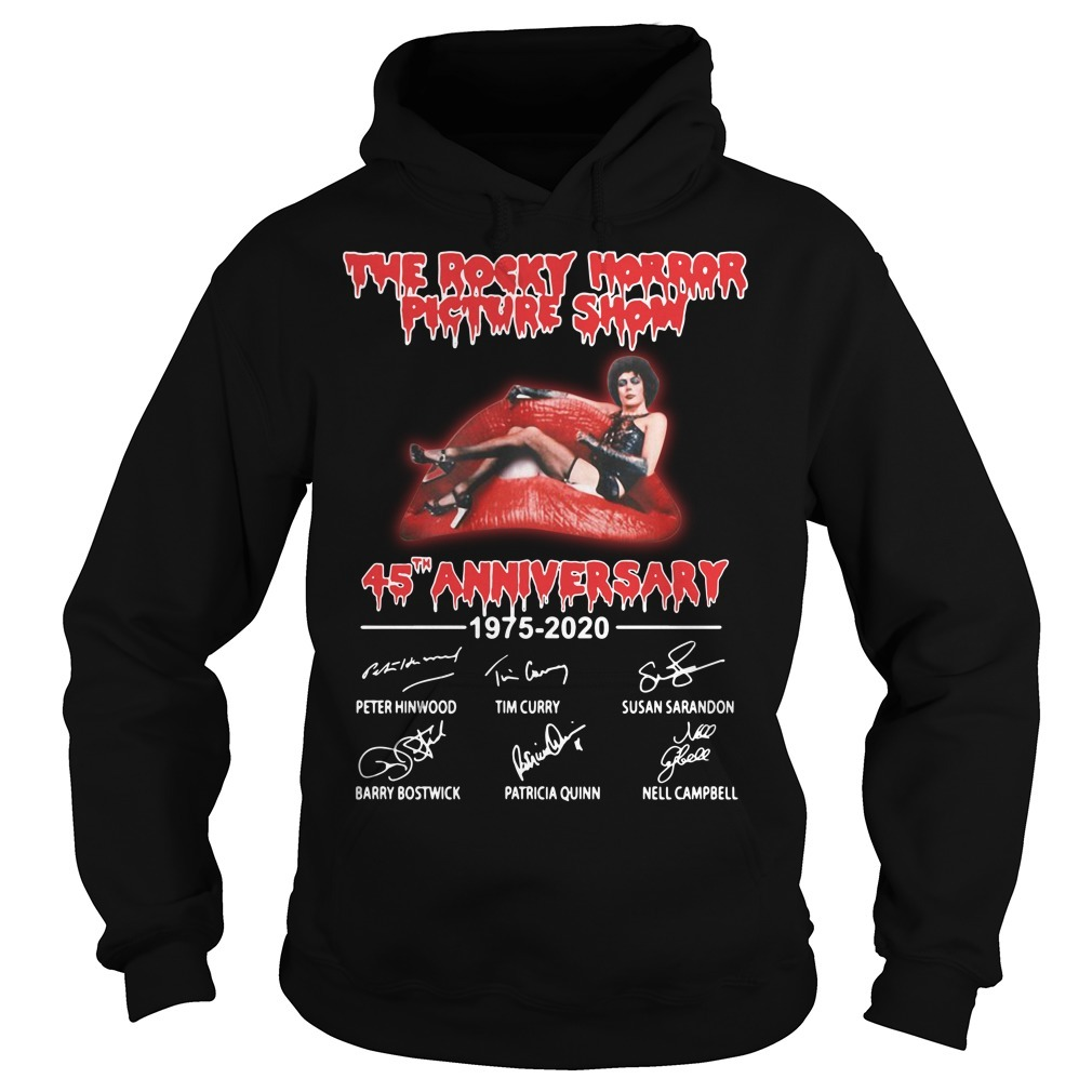 The rocky horror picture show 45th Anniversary 1975-2020 signatures Hoodie