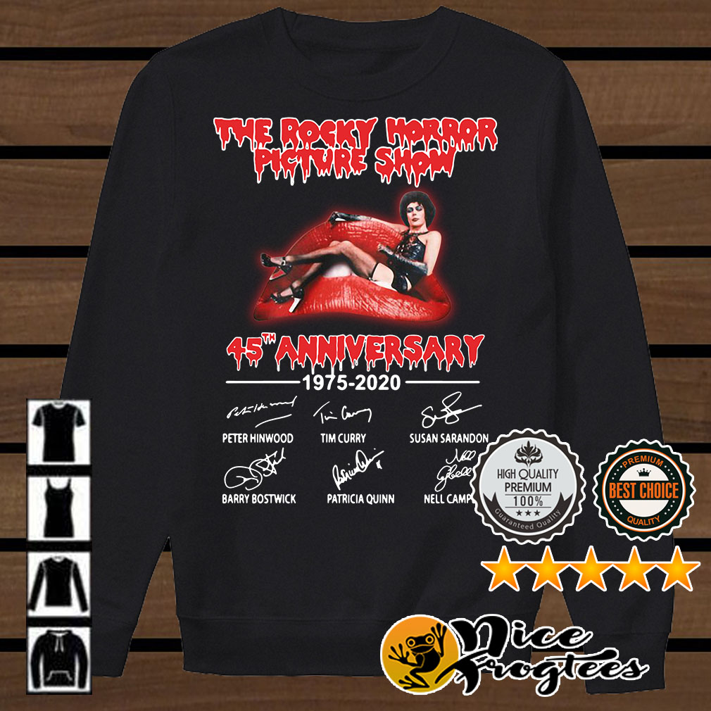 The rocky horror picture show 45th Anniversary 1975-2020 signatures shirt