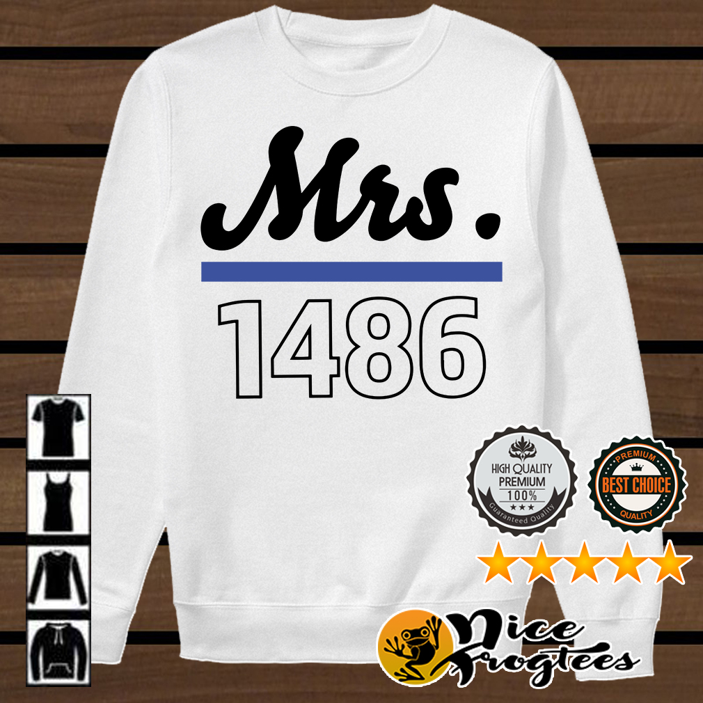 Thin blue line police Mrs 1486 shirt