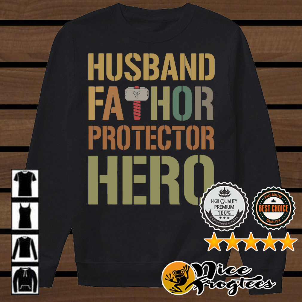 Thor husband fathor protector hero shirt