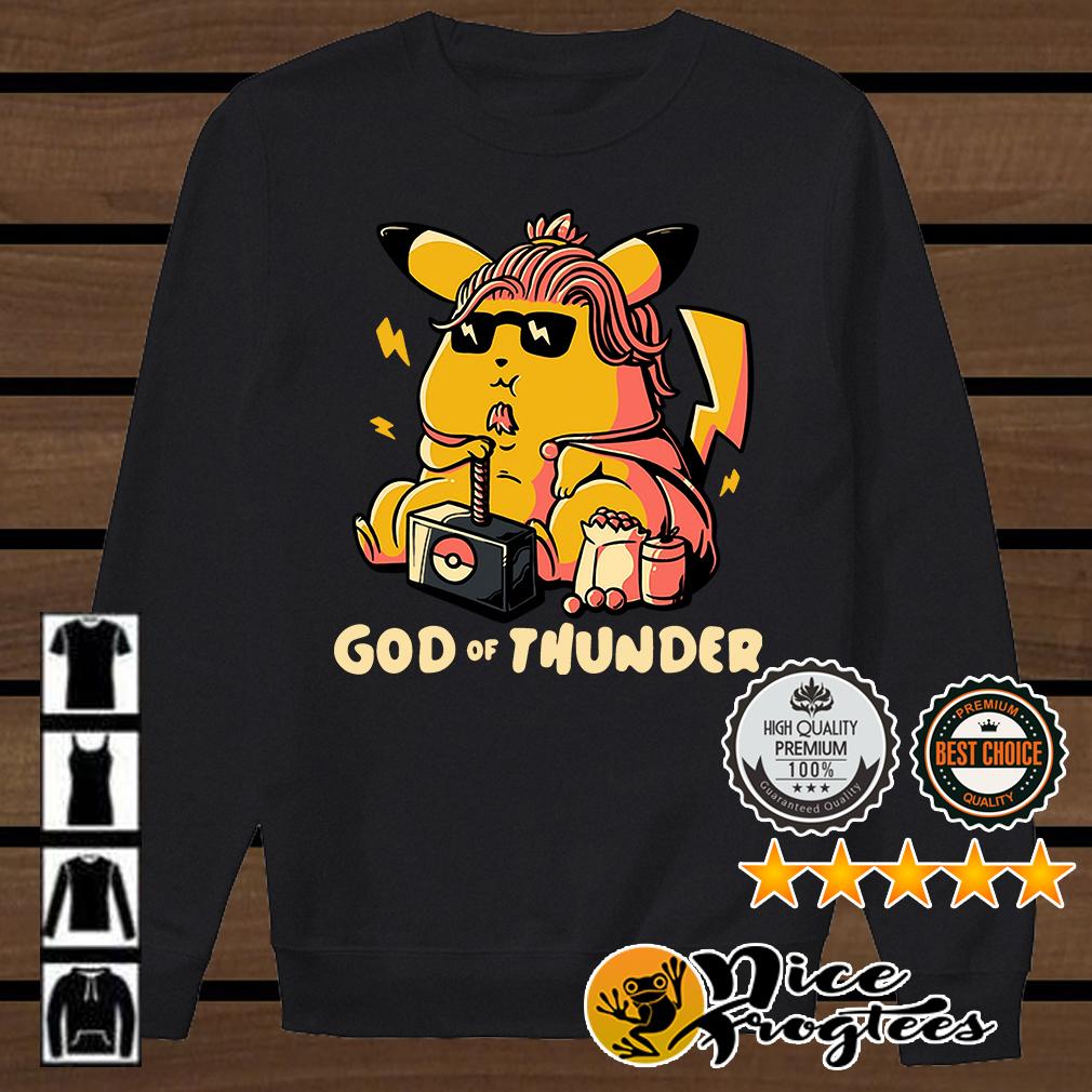 Thor style Pikachu God of Thunder Game of Thrones shirt