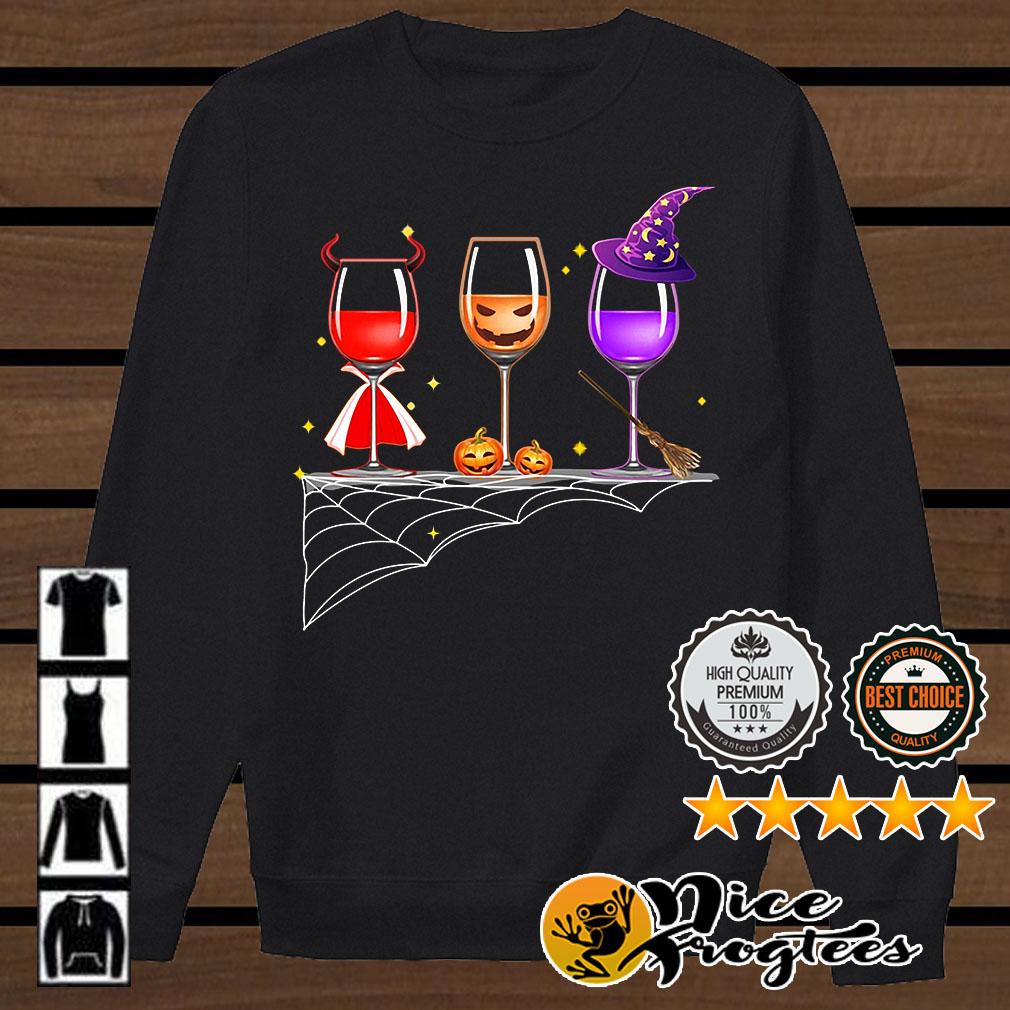 Three glass of wine Halloween shirt
