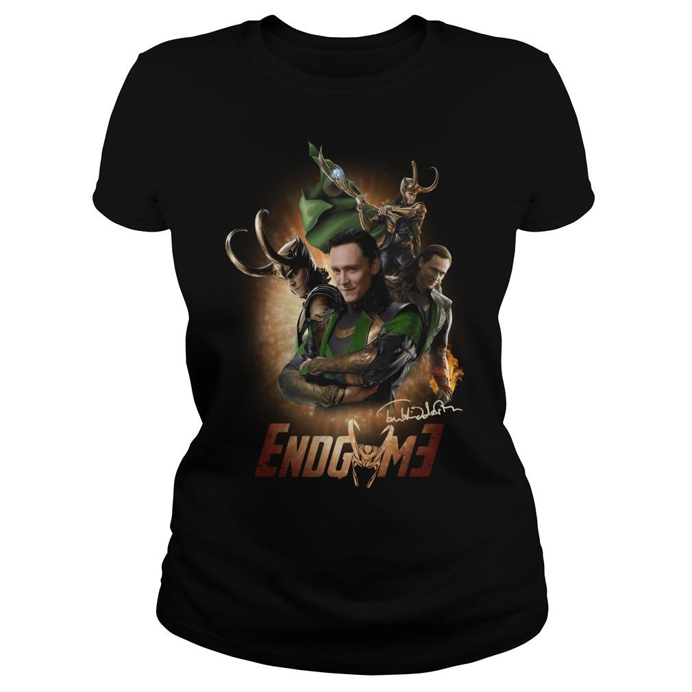 Tom Hiddleston Loki Odin Wanda Maximoff Thor Endgame Ladies tee