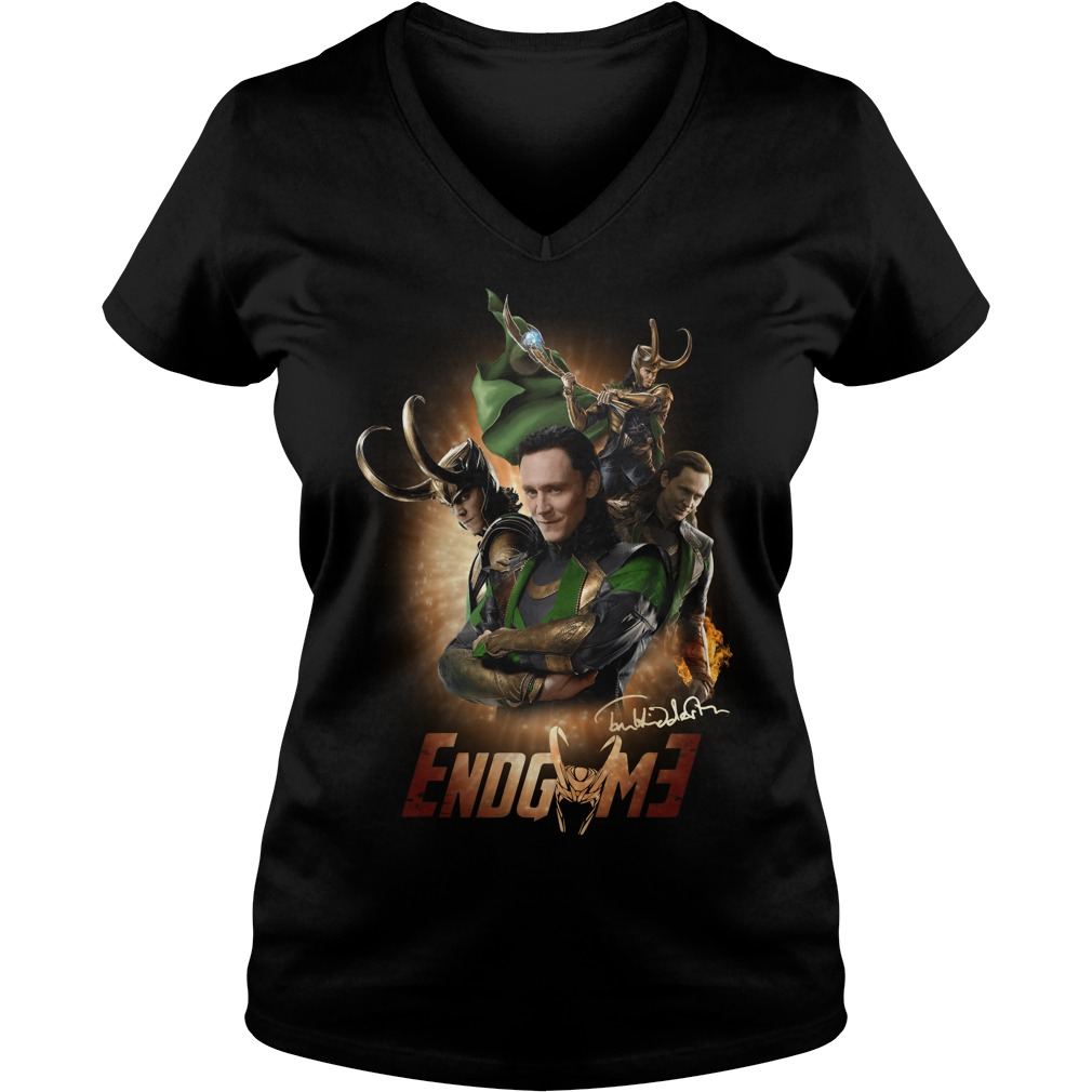 Tom Hiddleston Loki Odin Wanda Maximoff Thor Endgame V-neck t-shirt
