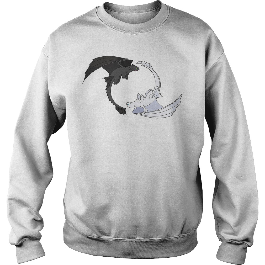 Toothless and Light Fury Dragon Sweater