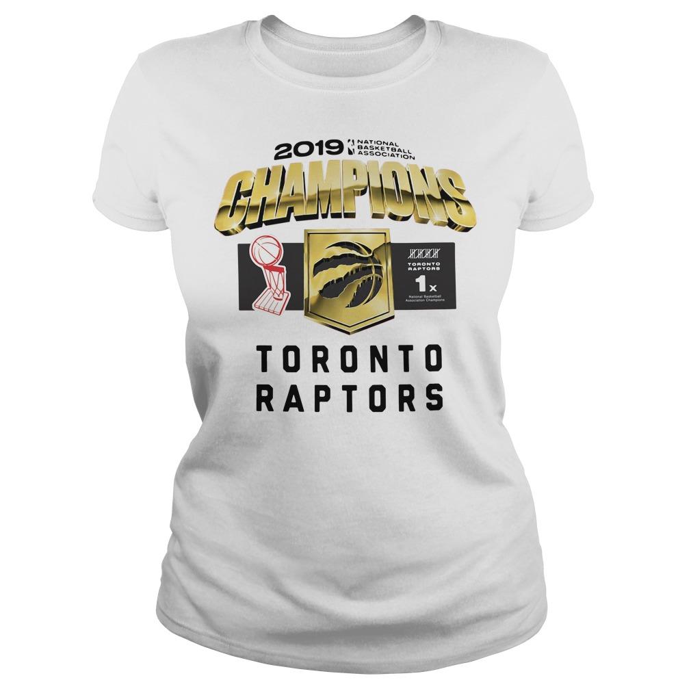 Toronto Raptors 2019 Champions Ladies tee