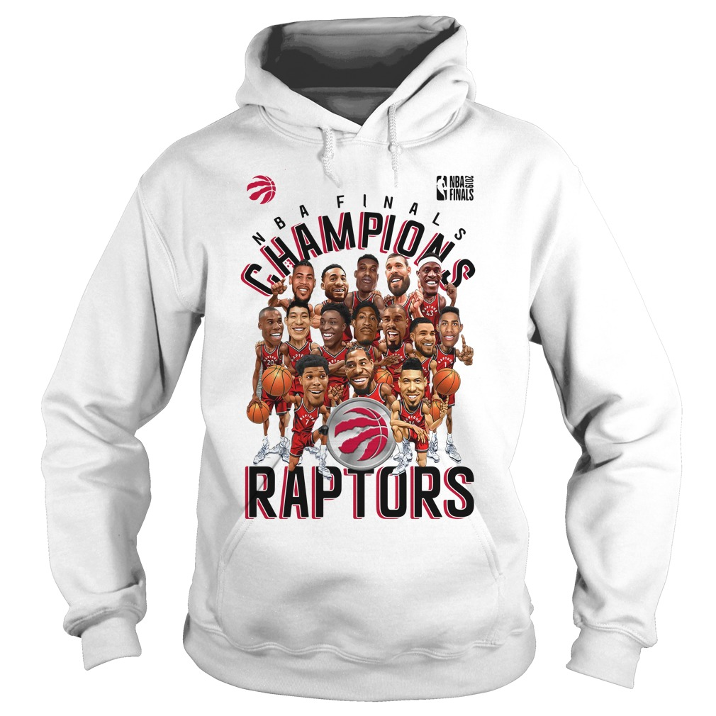 Toronto Raptors Heather Charcoal 2019 NBA Finals Champions Hoodie