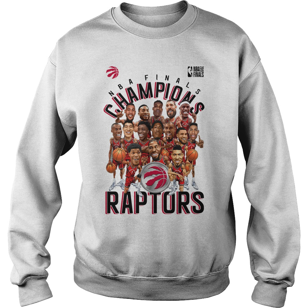 Toronto Raptors Heather Charcoal 2019 NBA Finals Champions Sweater