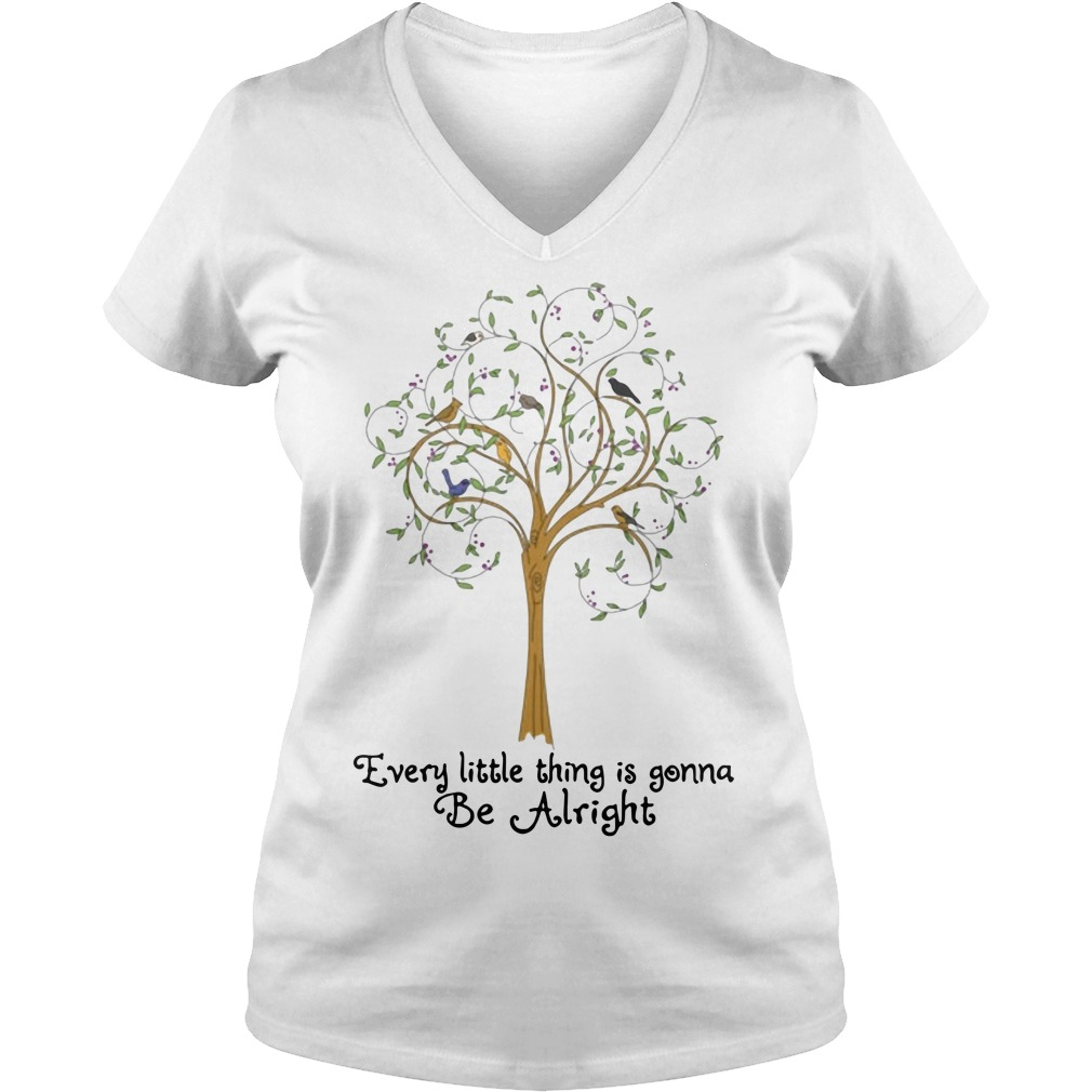 Tree every little thing gonna be alright V-neck t-shirt