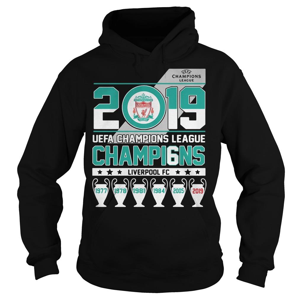 UEFA Champions League 2019 Champio6ns Liverpool FC Hoodie