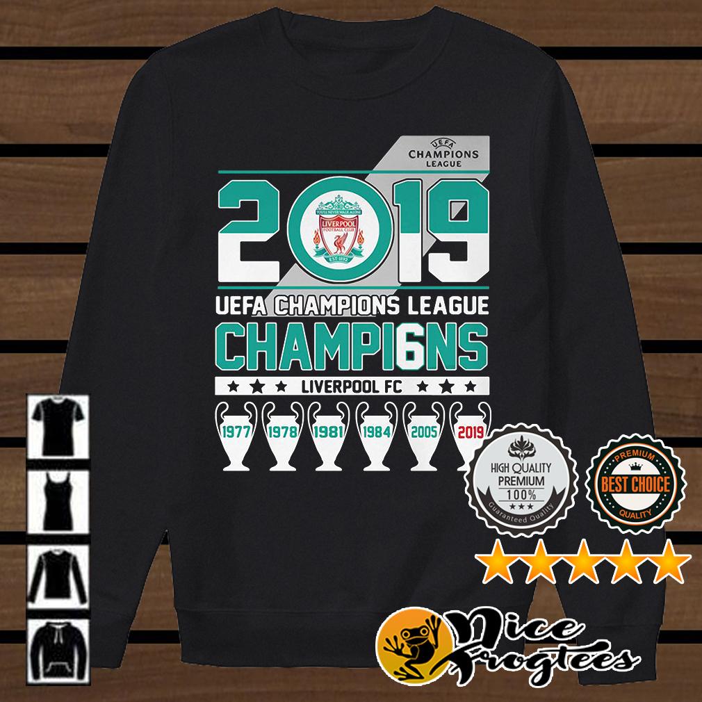 UEFA Champions League 2019 Champio6ns Liverpool FC shirt
