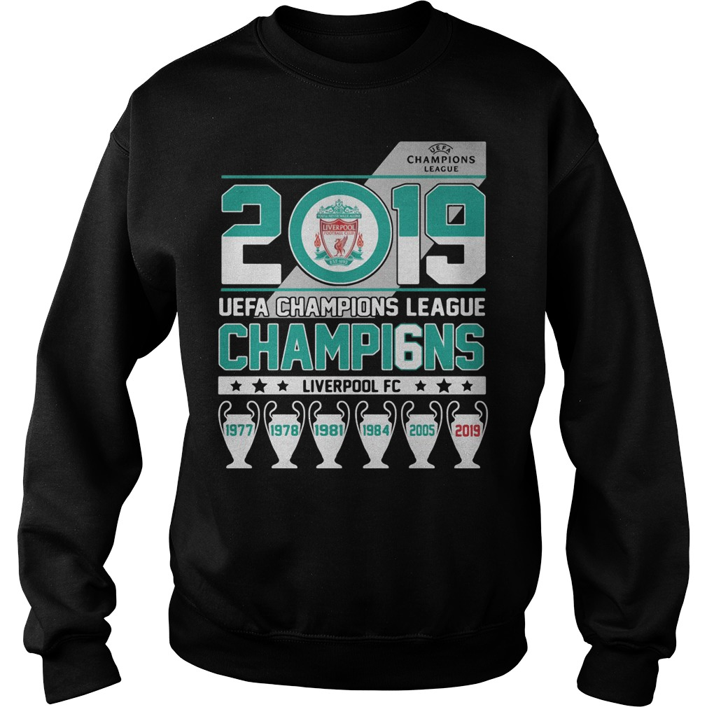 UEFA Champions League 2019 Champio6ns Liverpool FC Sweater