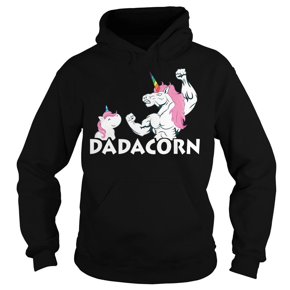 Unicorn best dad dadacorn Hoodie