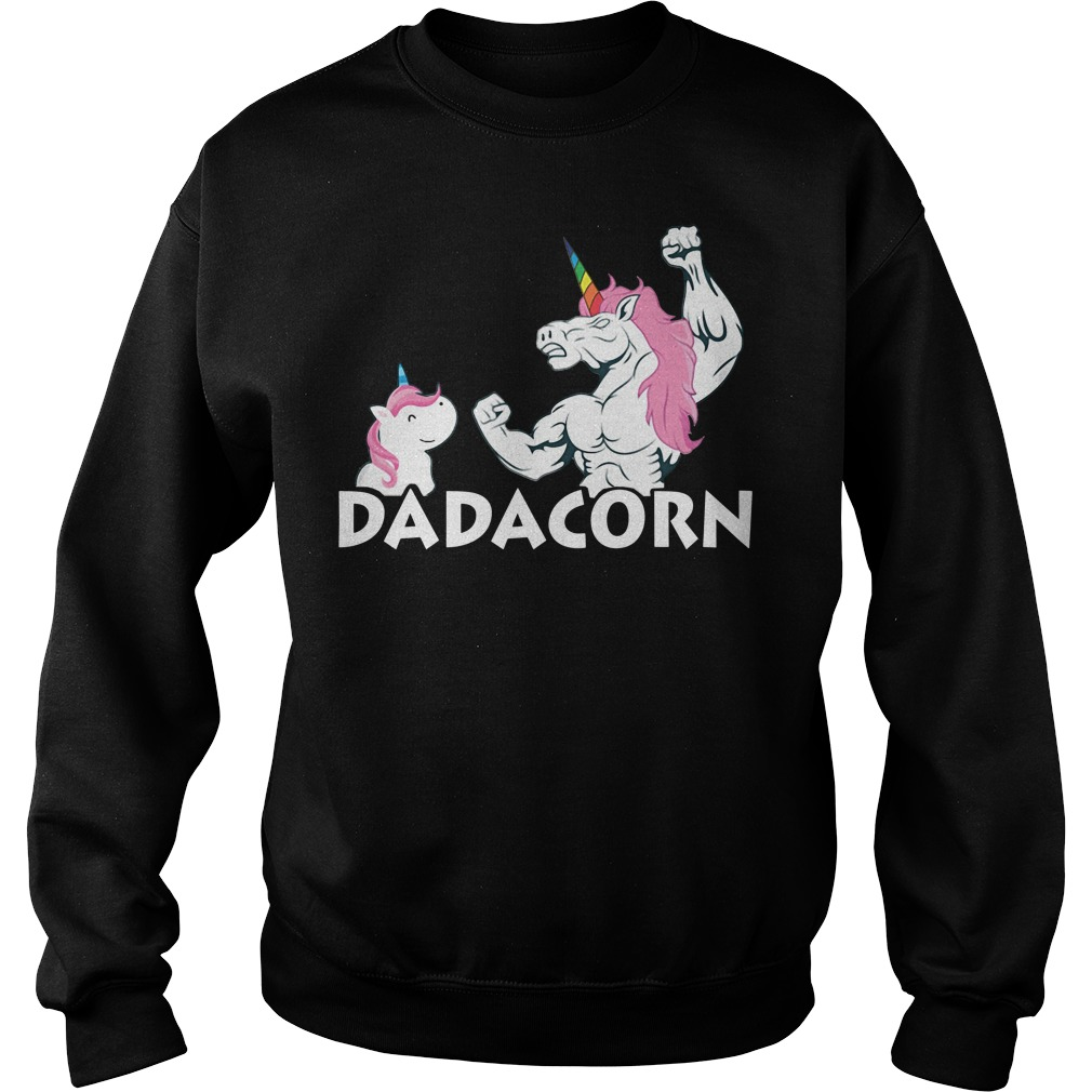 Unicorn best dad dadacorn Sweater