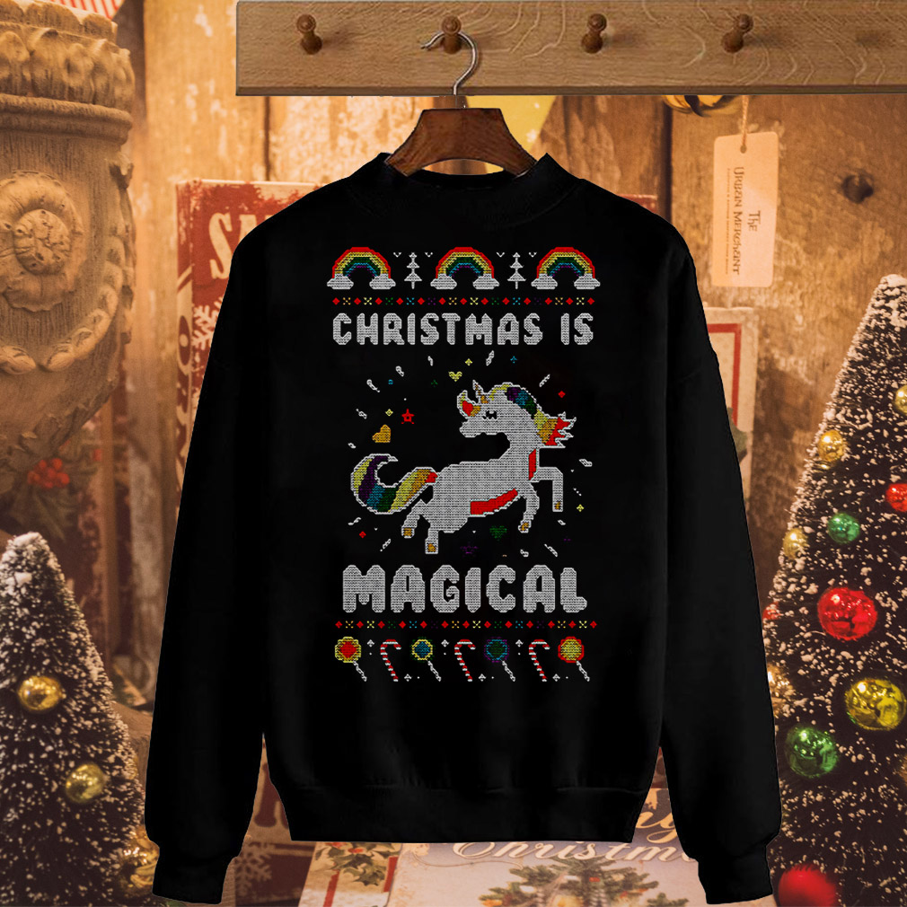 Unicorn Christmas is magical sweater